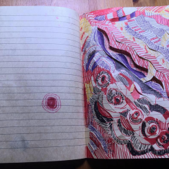Pen sketch paper weaving