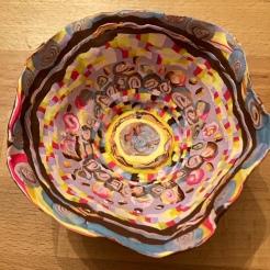 Sculpi millefiori bowl